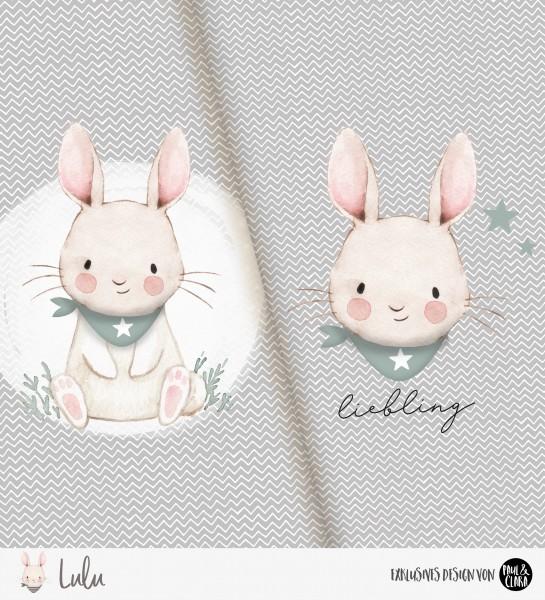 Lulu - Panel Halstuch Grau *Bio-Jersey*