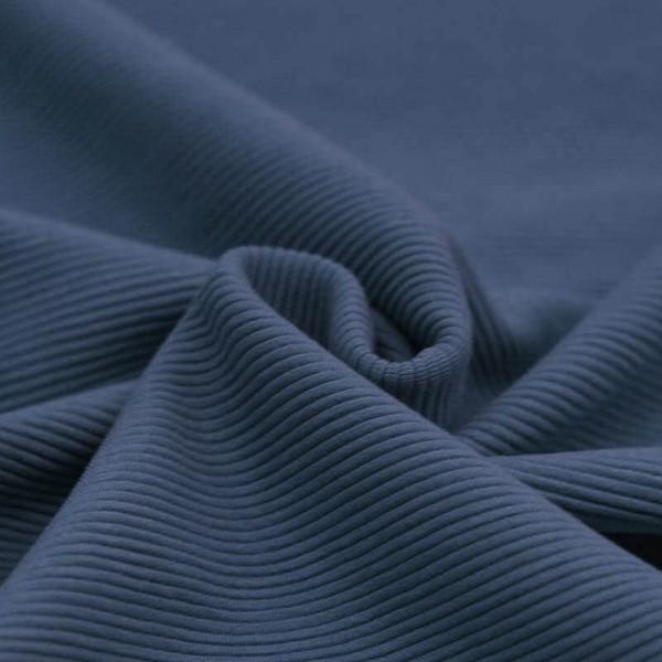 Feinripp Cord Jersey - Jeansblau