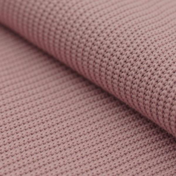 Grobstrick Strickstoff Baumwolle - Altrosa