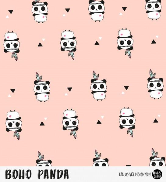 Eigenproduktion Boho Panda - Kombi Rosé *Sommersweat*