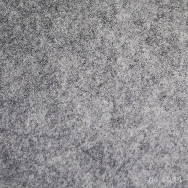 83 cm Filz meliert - Hellgrau *3mm*