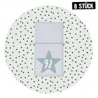 Größenlabel Stern *92* - 8er Pack