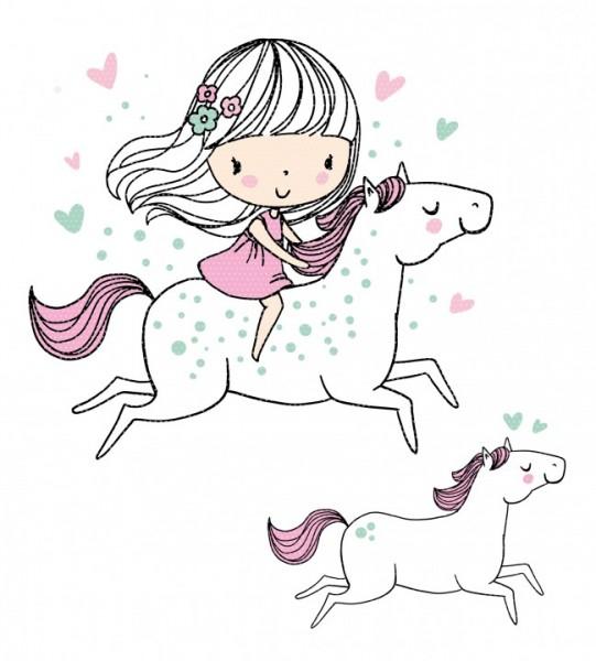 Plottervorlage Springgirl Pferd