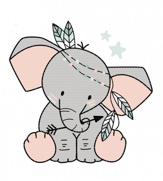 Stickdatei Boho Elefant