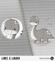 Lars & Laura - Panel Grau *Bio-Sommersweat*