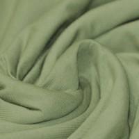 86 cm RESTSTÜCK-Jersey Uni - Olivegrün-