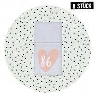 Größenlabel Herz *86* - 8er Pack