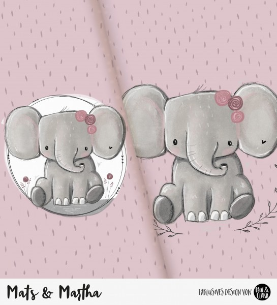 Mats & Martha - Panel ROSA *Bio-Jersey*