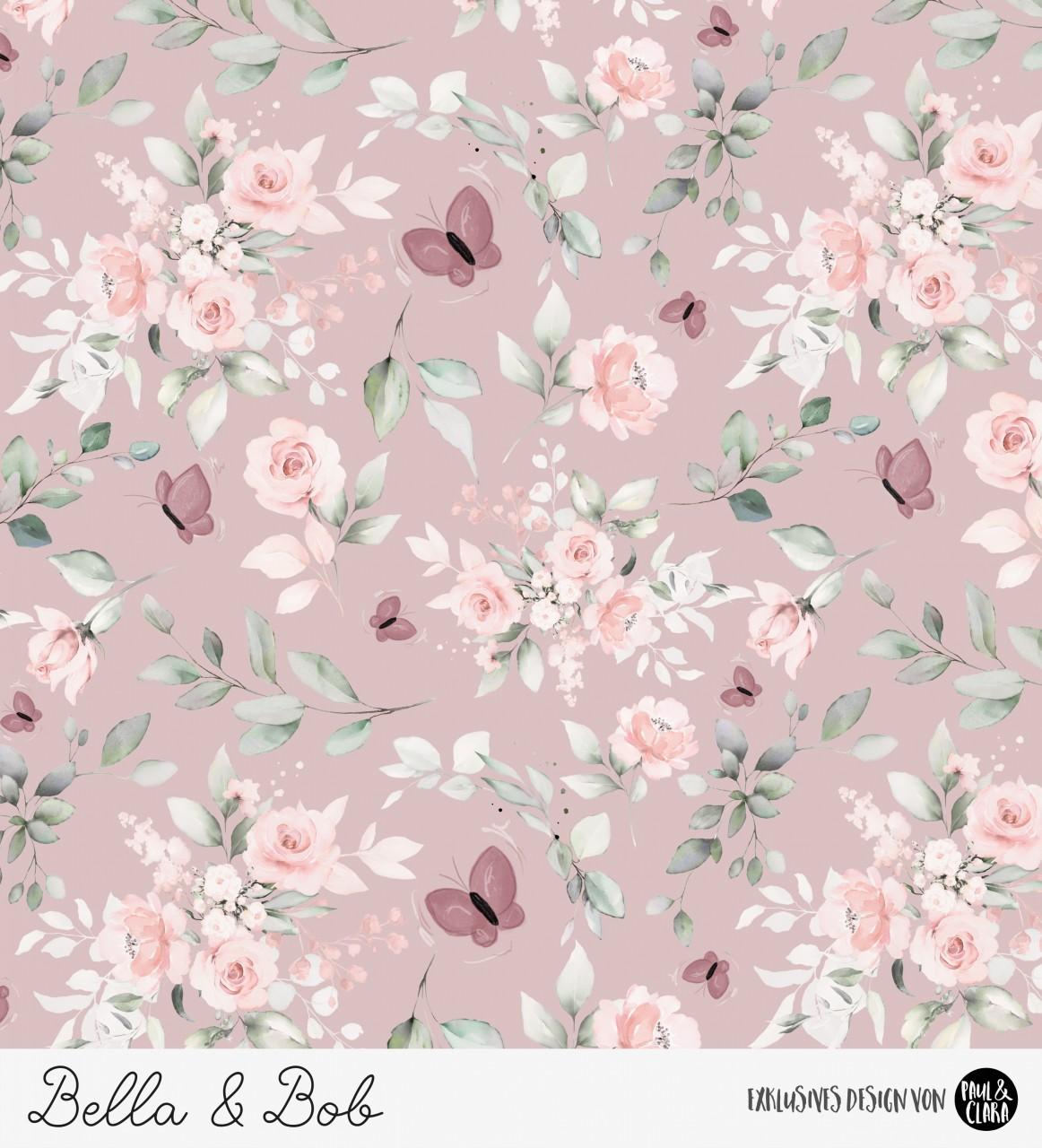 Bella - Blumen Altrosa *Bio-Jersey*