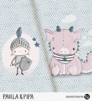 Paula & Pipa - Panel Blau-Rosa *Bio-Jersey*