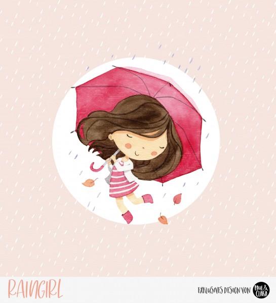 Eigenproduktion Raingirl - Panel Rosa 60 cm *Sommersweat*