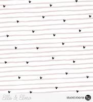 Ella & Elmo - Herz Streifen Rosa *Bio-Jersey*
