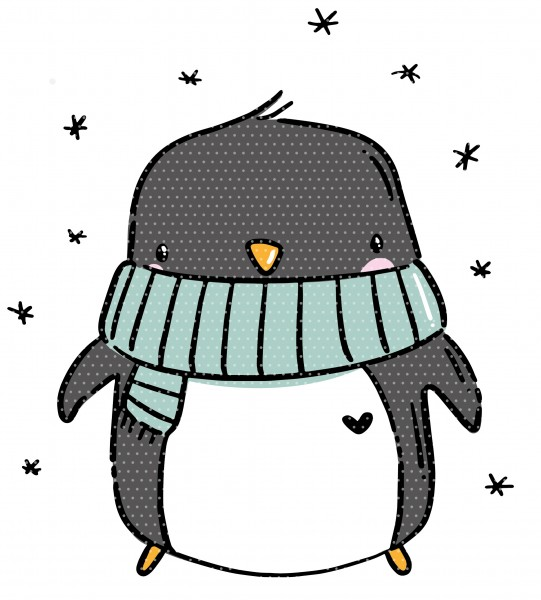 Plottervorlage Winterpinguin
