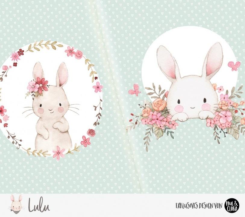 Eigenproduktion Lulu *Blumen* Panel - 60 cm *Bio-Jersey*