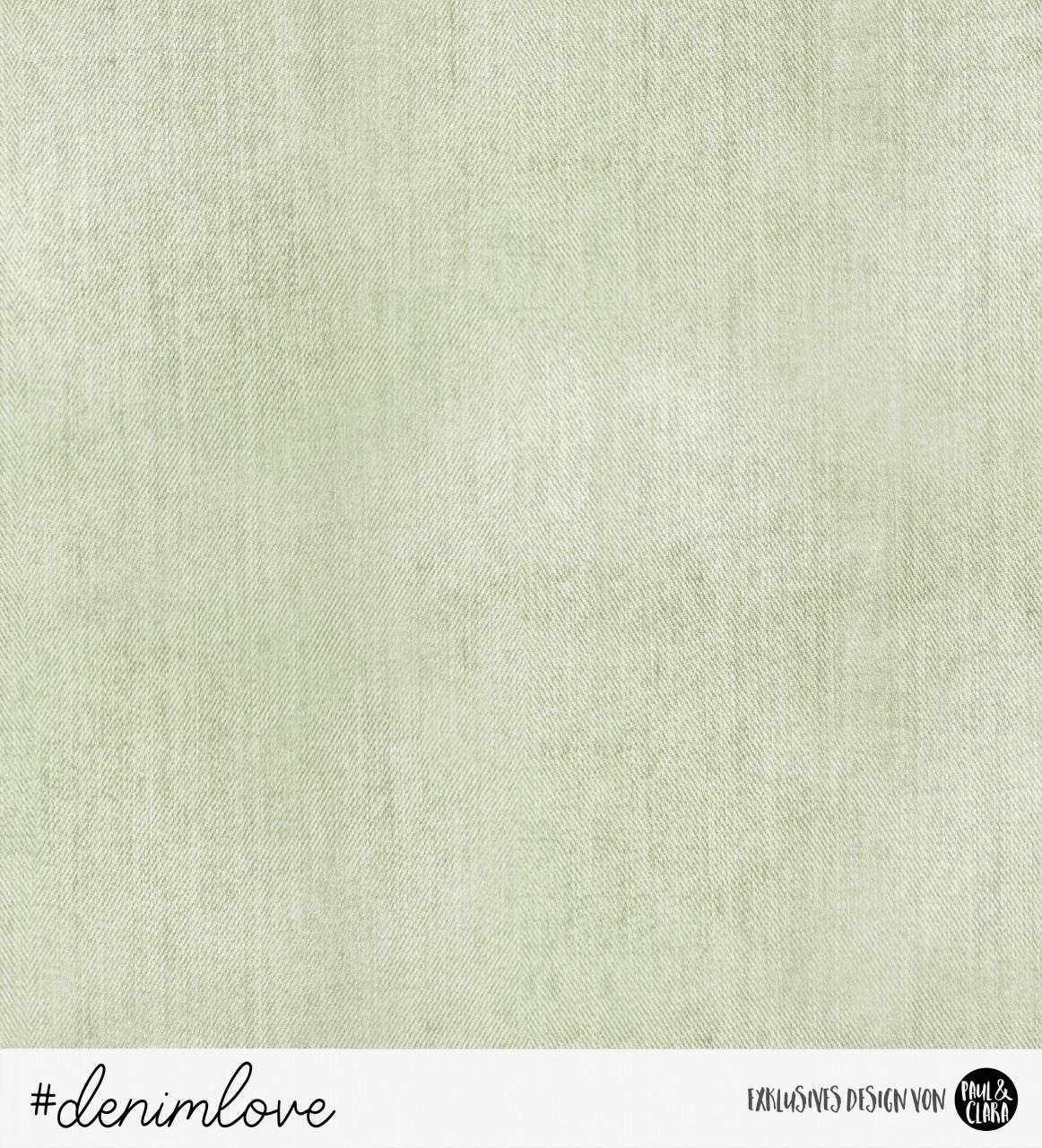 60 cm RESTSTÜCK-denimlove - Jeans Hellgrün *Bio-Sommersweat*-