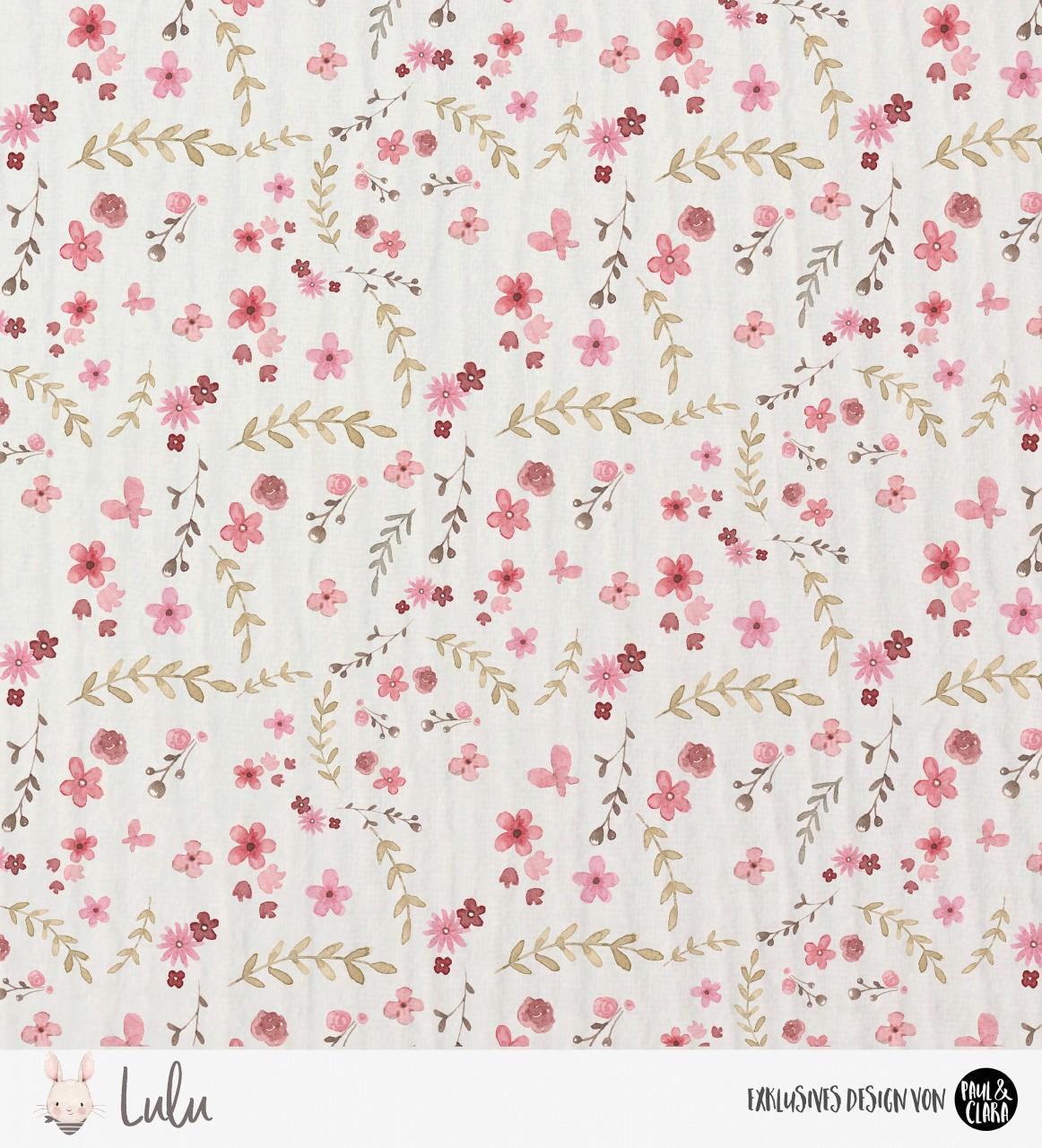 Eigenproduktion Lulu Blumeni Organic-Baumwoll-Musselin *ROSA*