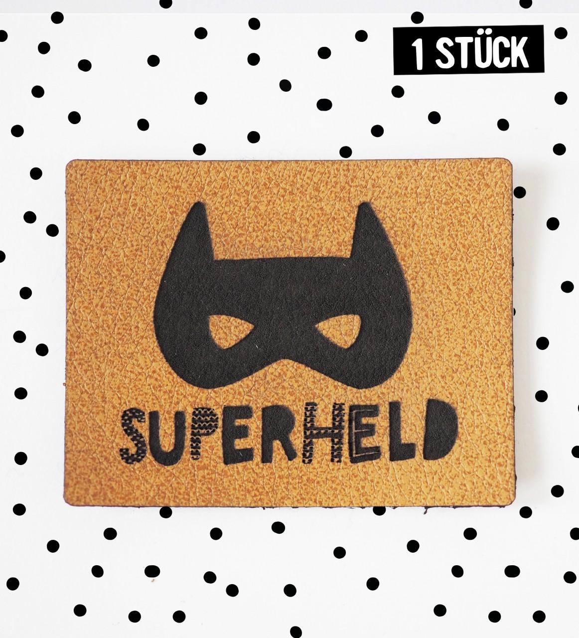 Kunstlederlabel *Superheld*