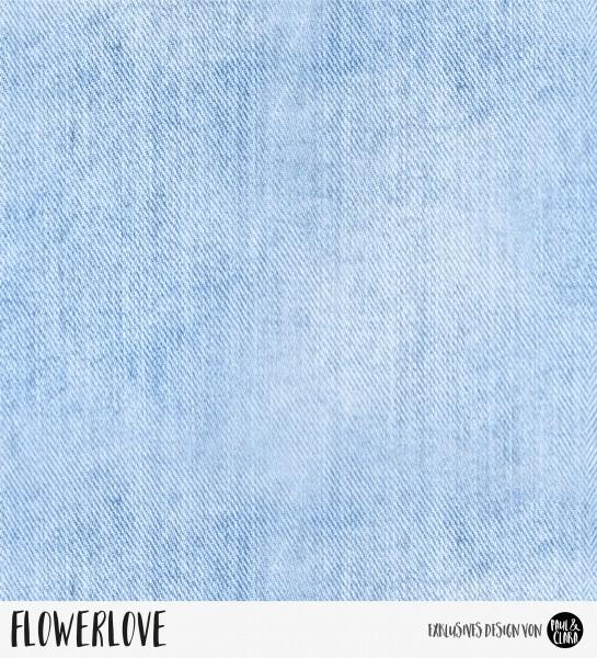80 cm RESTSTÜCK-Denimlove -hellblau- *Bio-Jersey*-