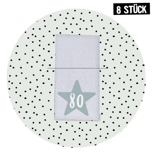 Größenlabel Stern *80* - 8er Pack