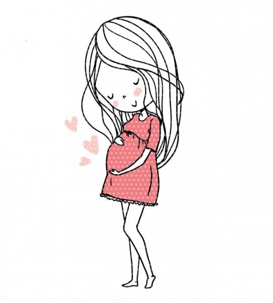Plottervorlage Mutterliebe Schwangere