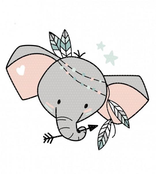 Plottervorlage Boho Elefant Kopf