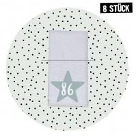 Größenlabel Stern *86* - 8er Pack