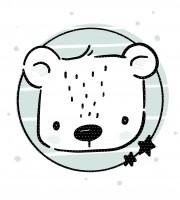 Applivorlage Eisbär Erik