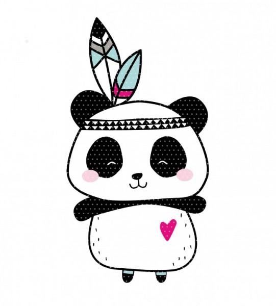 Stickdatei Boho Panda Indianer
