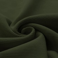 Waffelstrick Baumwolle - Dunkelgrün
