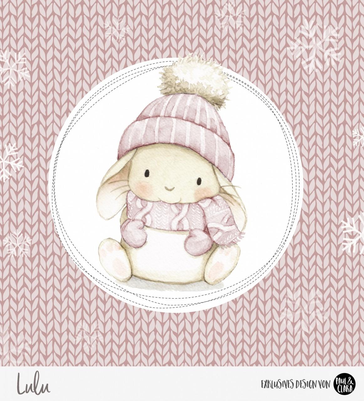 Lulu Winter - Panel Rosa 60 cm *Bio-Sommersweat*