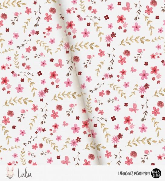 Lulu - Flowers Weiß *Bio-Jersey*