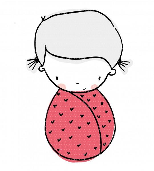 Plottervorlage Babyglück Mädchen