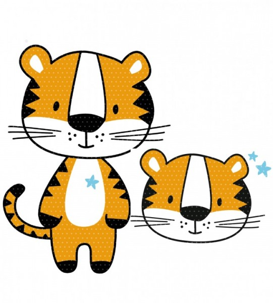 Plottervorlage Tiger