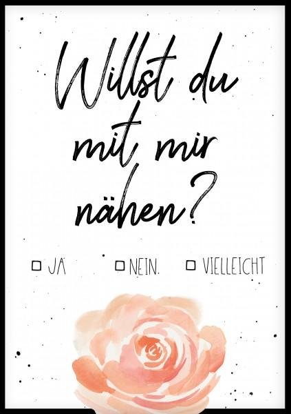 Postkarte *Willst du mit mir nähen* A6