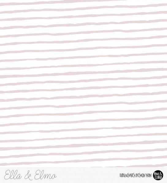 81 cm RESTSTÜCK-Ella & Elmo - Streifen Rosa *Bio-Jersey*-