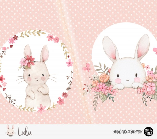 Eigenproduktion Lulu *Blumen* Panel ROSA - 60 cm *Bio-Jersey*