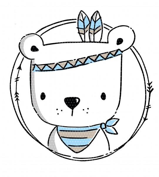Applivorlage Boho Bär