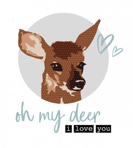 Plottervorlage oh deer I love you