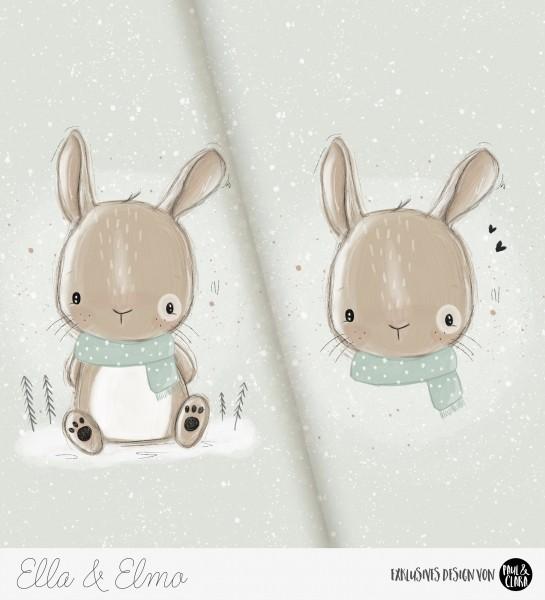 Ella & Elmo *Winter-Edition* - Panel Mint *Bio-Sommersweat*