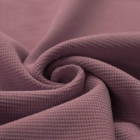 Waffelstrick Baumwolle - Malve
