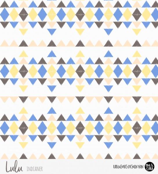 Eigenproduktion Lulu Indianer - Kombi Dreiecke Gelb *Jersey*