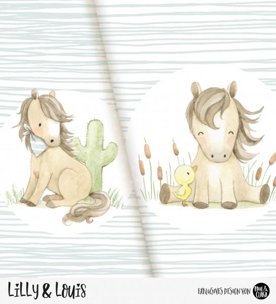 VORBESTELLUNG Eigenproduktion Lilly & Louis - Panel Jungs 60 cm *Jersey*