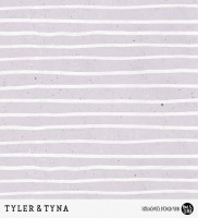 Tyler & Tyna - Streifen Lila *Bio-Sommersweat*