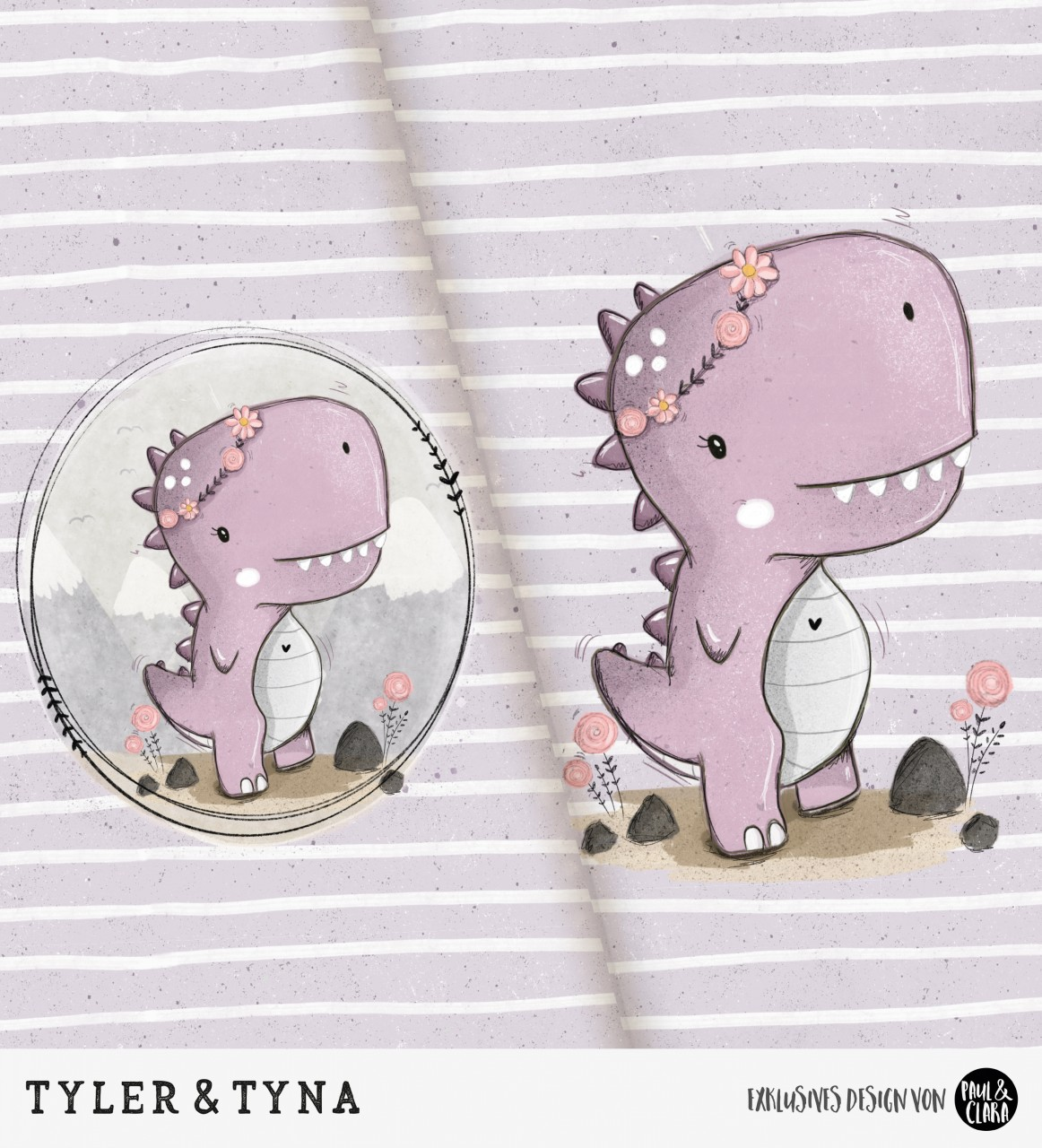 Tyler & Tyna - Panel Lila *Bio-Jersey*