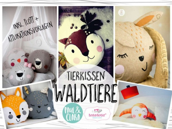 "Ebook Tierkissen ""Waldtiere"" inkl. Plott und Appli"