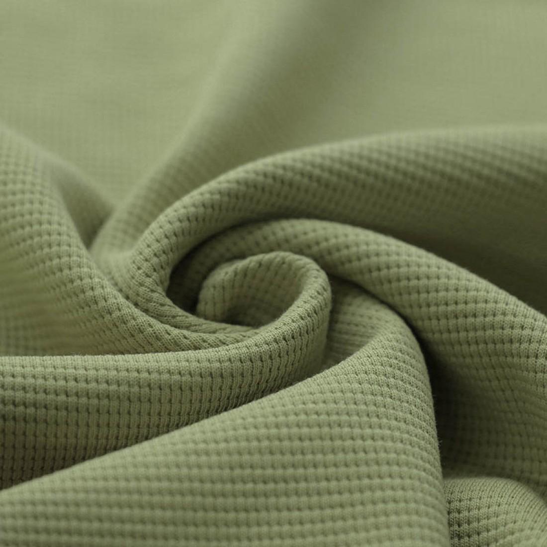 Waffelstrick Baumwolle - Olive