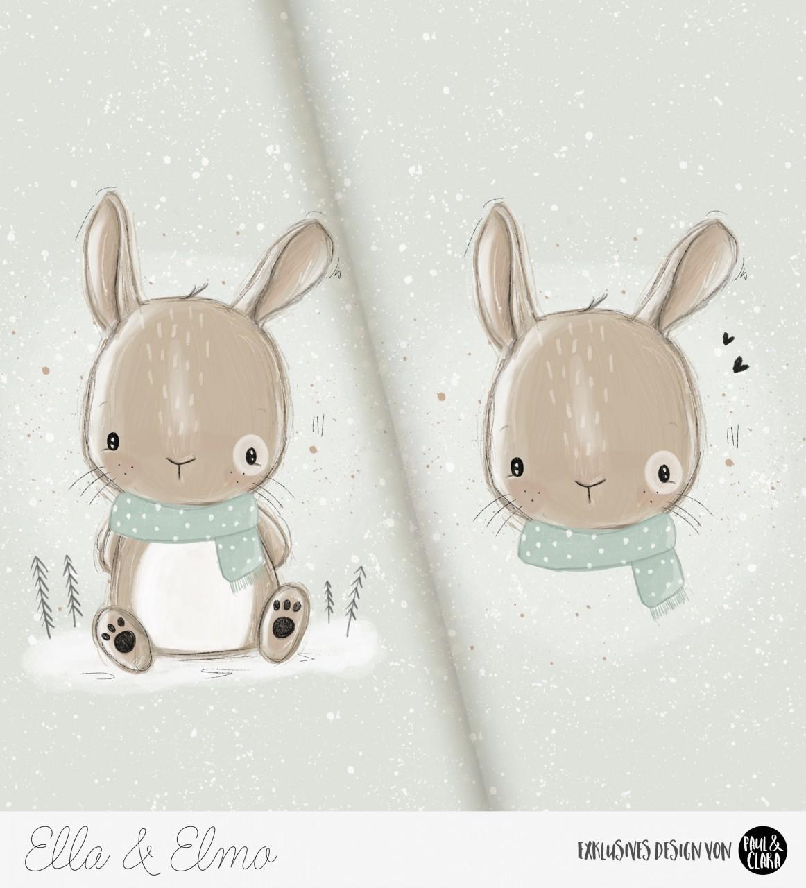 *VORBESTELLUNG* Ella & Elmo *Winter-Edition* - Panel Mint *Bio-Sommersweat*