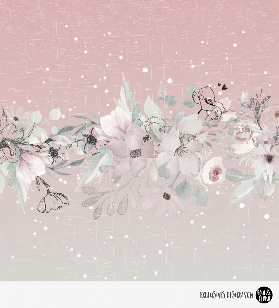 Hanni & Hans - Blumen Kombi Rosa/Mint *Bio-Jersey*