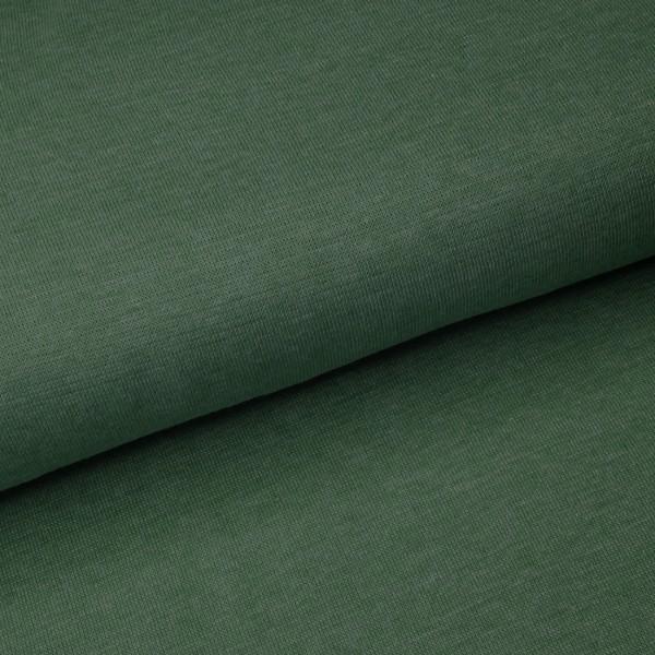 58 cm RESTSTÜCK-Bündchen - Olive Meliert *Schlauchware*-