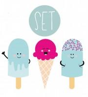 Plottervorlage Summertime Eis